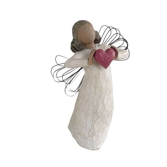Willow Tree With Love Angel Statue